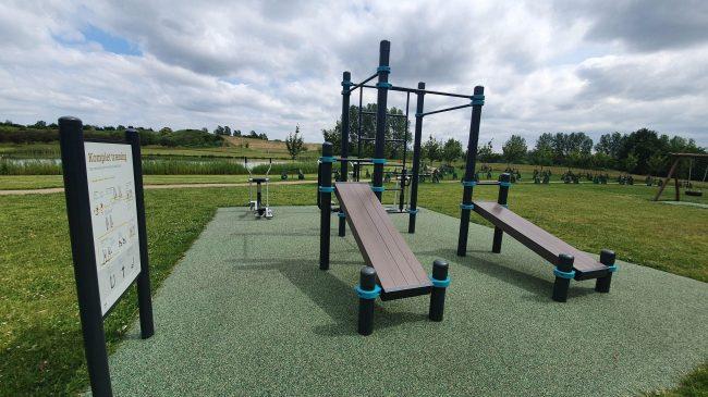 Fitness i det fri i Byparken i Ølstykke