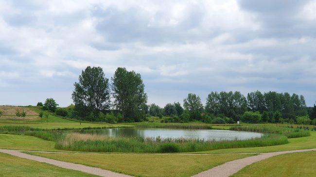 Søen i Byparken i Ølstykke