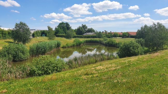 Lille hyggelig sø ved Regnersvej/Valdemarsvej i Ølstykke